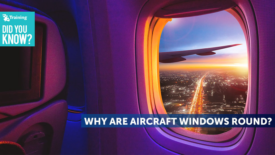 Why are aircraft windows round