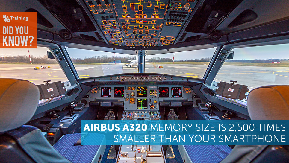 Did You Know that Airbus A320 Memory Size is 2,500 Times Smaller than Your Smartphone?